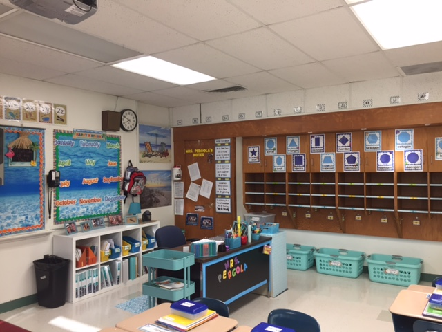 Teacher Desk and Cubbies